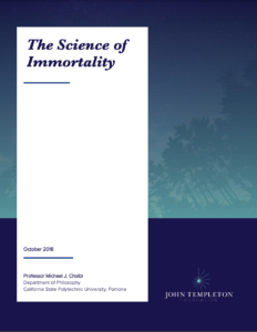 Cover image of a research paper on the science and theory of immortality research